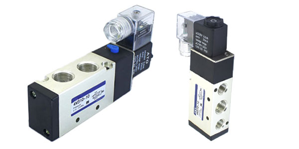 5-way pneumatic solenoid valve single coil
